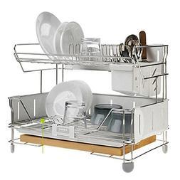 Hansem Shine Steel Frame 2 Tier Dish Dry Rack Drying Drainer