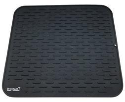 Premium Silicone Dish Drying Mat XL 17.8 x 15.8 Inches | Hea
