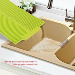 Silicone Dish Drying Mat Kitchen Tableware Pad Washing Sink