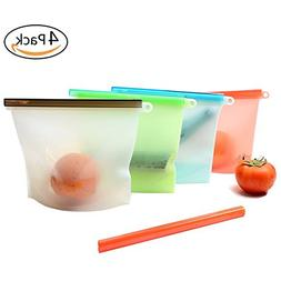 Silicone Food Preservation Bag Airtight Zip Seal Bags Microw