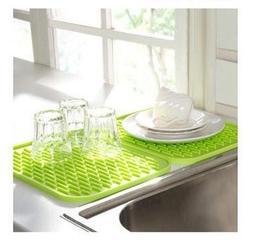 KINGZHUO Silicone Kitchen Drainer Sink Dish Drying Mat Washi