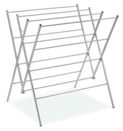 "Silver 37.5 "" Oversized Laundry Drying Rack Outdoor Folding"
