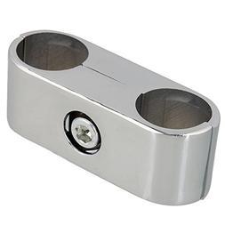 BQLZR Silver Double Hole 25mm Tube Clamp Pipe Aluminum Displ