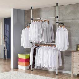 Drying Racks Simple Wardrobe Floor Hangers Top-down Coat Rac