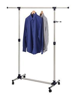 Finnhomy Single Rail Adjustable Free Standing Rolling Garmen