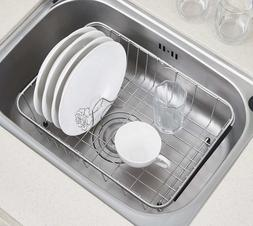 Sink Dish Drying Rack Stainless Steel Dish Drainer -Medium R