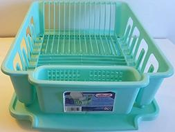 Sterilite 2-piece Large Sink Set Dish Rack Drainer,