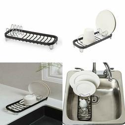 Umbra Sinkin Mini Dish Rack, Black/Nickel