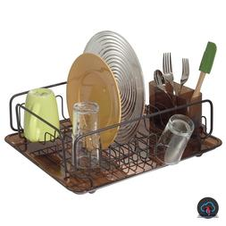 Small Dish Drainer Rack Set Farmhouse Drying Compact Counter
