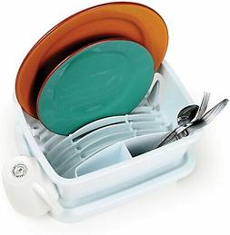 Small Dish Drying Rack Drainer Tray RV Kitchen Sinks Cup Pla