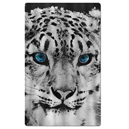 FSKDOM Snow Leopard Quick Dry Antibacterial Lightweight Comp