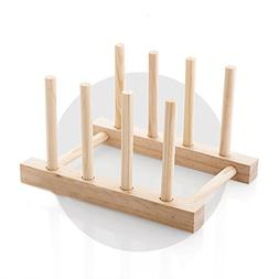 Natural Solid Wood Dish Rack, Kitchen Drawer Organizer, Cabi