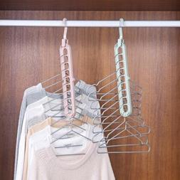 Space Save Storage Rack Hooks Hanger Clothes Holder Drying
