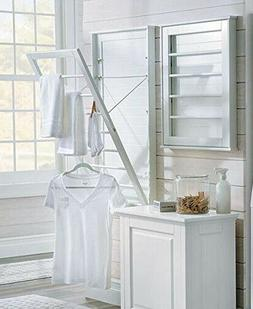 Wall Mount Drying Rack Space Saver Clothes Line Large Laundr