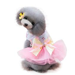 Yeefant Spring and Summer Adorable Cotton Dog Dress Clothes
