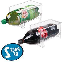 mDesign Large Stackable Kitchen Bin Storage Organizer Rack f