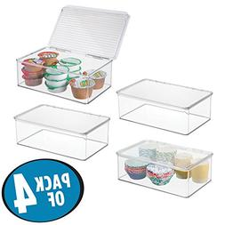 mDesign Stackable Kitchen Pantry Cabinet or Refrigerator Sto