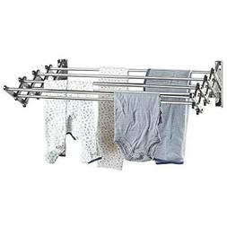 Stainless Steel Wall Mount Laundry Drying Rack Retractable F