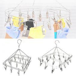 Stainless Steel 20 Clip Underwear Hanging Bra Socks Hanger D