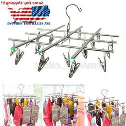 Stainless Steel 20 Clips Pegs Clothes Underwear Sock Laundry