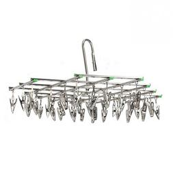 HDWY Stainless Steel 35 Clips Folding Underwear Hanging Bra