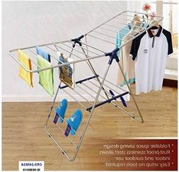CRESNEL Stainless Steel Clothes Drying Rack Foldable for Eas