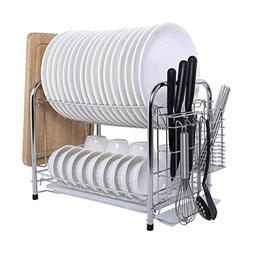 MICOE Stainless Steel Dish Drain Drying Rack with Cutting Bo