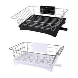 Stainless Steel Dish Drainer Drying Rack With 3-Piece Set Re