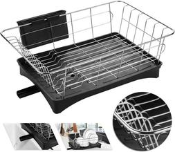 Stainless Steel Dish Drying Rack Drainer Holder Tray Storage