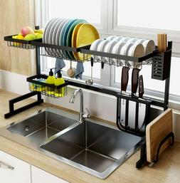 Stainless Steel Dish Drying Rack Over Sink Drainer Home Cutl