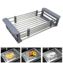 Stainless Steel Dish Drying Rack Telescopic Filter Basket Ki
