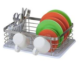 TQVAI Stainless Steel Dish Drying Rack with Full Mesh Silver