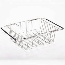 Rziioo Stainless Steel Drain Basket Retractable Sink Drain R