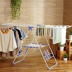 Stainless steel drying rack,Wing shape floor folding drying