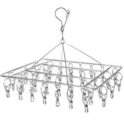 DuoFire Stainless Steel Clothes Drying Racks Laundry Drip Ha