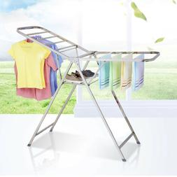 Stainless Steel Foldable Clothes Drying Rack Laundry Stand L