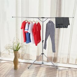 Heavy Duty Stainless Steel Garment Rack Clothes Hanging Dryi