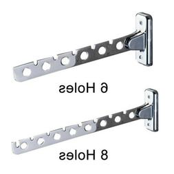 Stainless Steel Folding Wall Mount Hanger Retractable Clothe