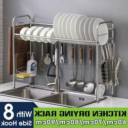 Stainless Steel Kitchen Over The Sink Dish Drainer Bowl Dryi