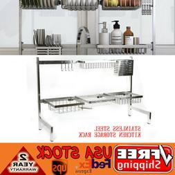 Stainless Steel Kitchen Shelf Rack Drying Drain Storage Hold