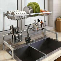 stainless steel kitchen shelf rack drying drain