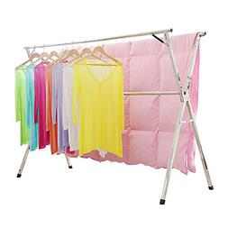 Stainless Steel Laundry Drying Rack Free Installed Foldable