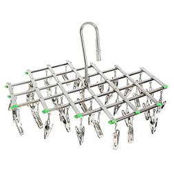 Stainless Steel Laundry Clothes Drying Rack Hanger, Multi fu