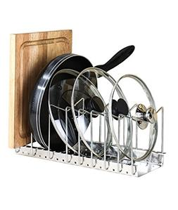 Fecihor Stainless Steel Pan and Pot Lid Cookware Rack Holder