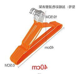 MIAOQUTONG 10Pcs/Lot Stainless Steel Plastic Hangers Antiski