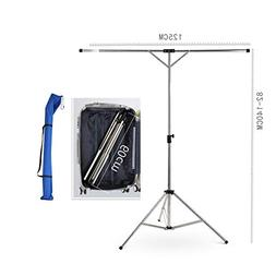 REDHOT Stainless Steel Portable Tripod Hanger Stand Clothes