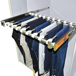 Stainless Steel Pull-Out Pants Rack Full-Extension Slides