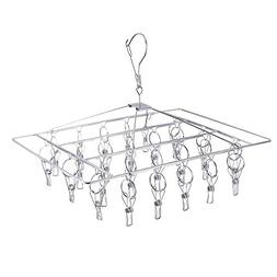 BTMB Stainless Steel Hanging Drying Rack 26 Clip Drip Laundr