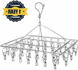 Stainless Steel Sock Drying Rack Clothes Hanger Rack Swivel