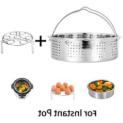 HapWay Stainless Steel Steamer Basket with Egg Steam Rack Tr